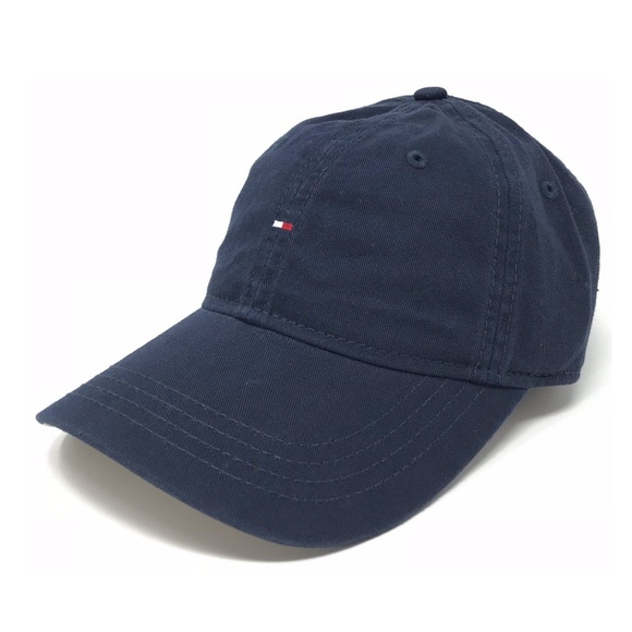 3a25125da Tommy Hilfiger Accessories | Cotton Baseball Cap Navy Small Flag ...